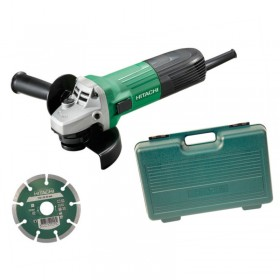 Hitachi G12SS/J4 115mm 110V Angle Grinder & Diamond Blade