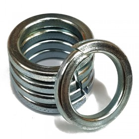 Square Spring Lock Washer Bright Zinc Plated