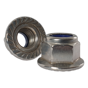 Serrated Flanged Nyloc Nuts