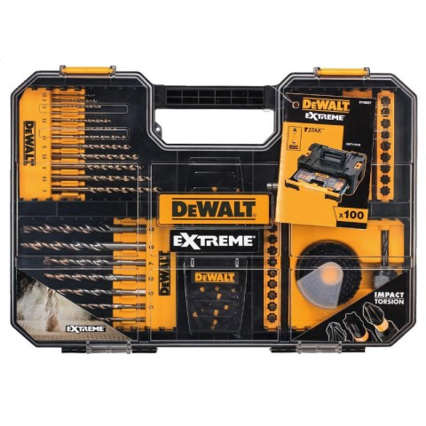 DeWALT DT70620T Extreme 100pc Drill Bit Set