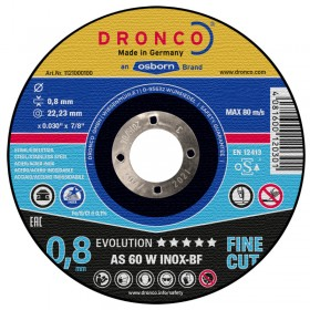 Dronco 10pc AS 60 W-BF Angle Grinder Discs 115mm x 0.8mm x 22.23mm