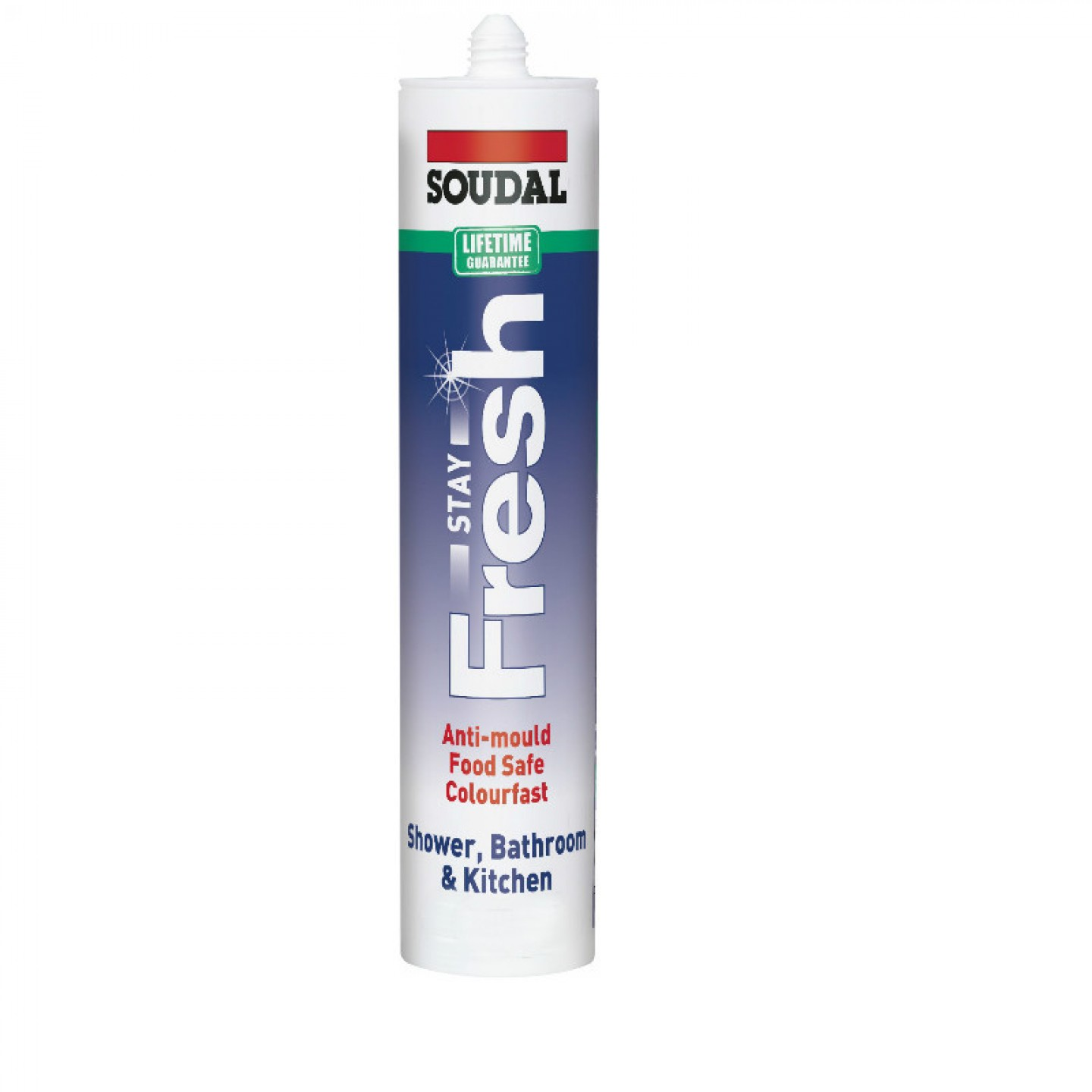 Soudal Stay Fresh Silicone Clear Paignton Tools