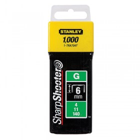Stanley 1-TRA704T Type G Heavy Duty Staples 6mm 1000pc