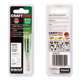 "Trend C014X1/4TC 1/4"" Two Flute Straight Cutter"