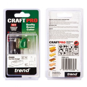 """Trend C033X1/4TC 1/4"""" Two Flute Straight Cutter"""