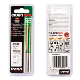 """Trend C153DX1/2TC 1/2"""" Two Flute Straight Cutter 12.7mm x 50mm"""