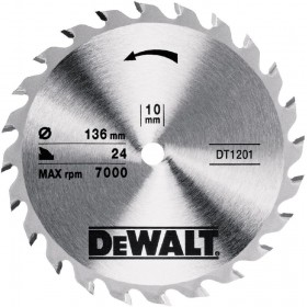 DeWALT DT1201 Trim Saw Blade 136mm x 10mm x 28T