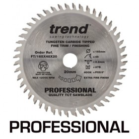 Trend FT/165X48X20 Circular Saw Blade 165mm x 20mm x 48T