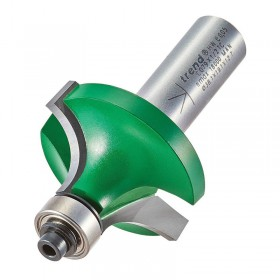 """Trend C079X1/4TC 1/4"""" Guided Ovolo & Round Over Router Cutter 12.7mm x 19.1mm"""